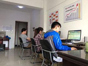 唐朝seo小組成員在認真工作